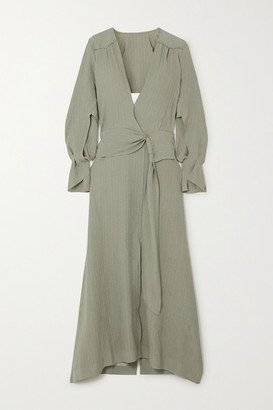 Roland Mouret Springbrooke Cutout Silk-jacquard Maxi Dress - Green