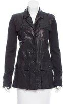 Rachel Zoe Leather Button-Up Jacket