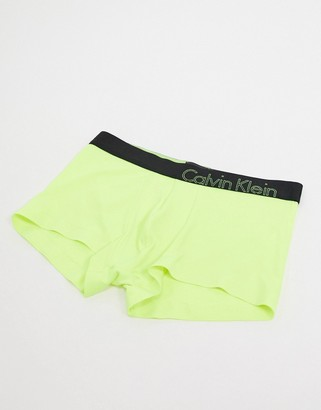 Calvin Klein low rise trunks in yellow