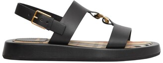 Burberry Leather Chain-Link Sandals