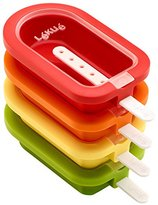 Lekue Popsicle Mould Stackable, Multi-Colour, 4-Piece