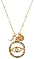 Sequin Evil Eye Talisman Pendant Necklace, 16""