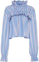 Marni Striped Long Sleeve Blouse