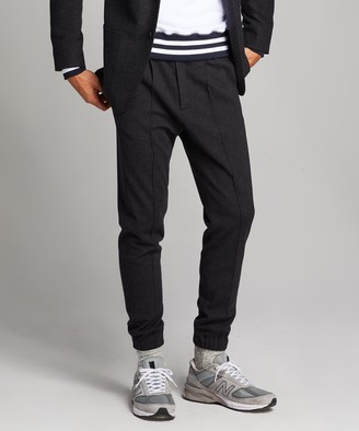 Todd Snyder Knit Traveler Suit Pant in Charcoal