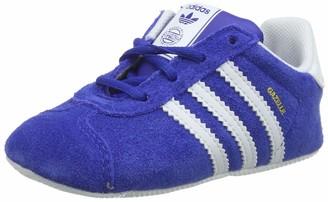 adidas Unisex Babies Gazelle Crib Gymnastics Shoes Blue (Collegiate Navy/FTWR White/Gold Met. Collegiate Navy/FTWR White/Gold Met.) 5 18-24 Months UK