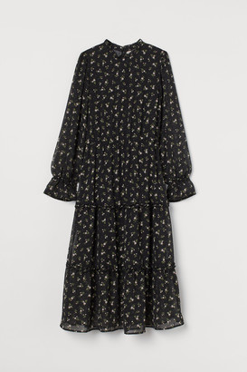 H&M Calf-length Chiffon Dress