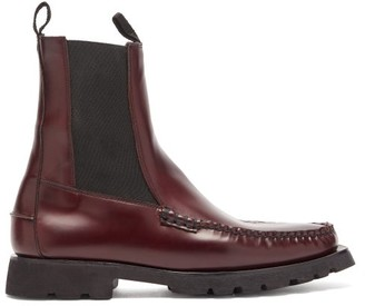 Hereu Alda Sport Leather Chelsea Boots - Burgundy
