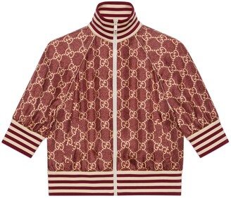 Gucci GG Supreme print silk jacket