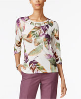 Alfred Dunner Palm Desert Embellished Top