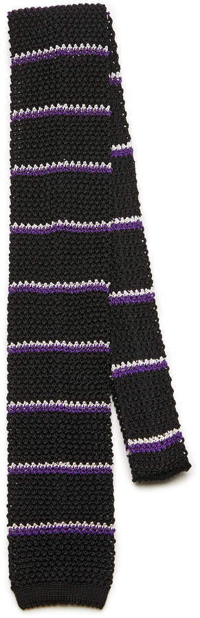 Ralph Lauren Knit Striped Silk Tie