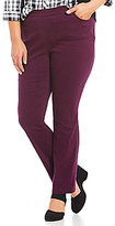 Allison Daley Plus 5-Pocket Pull-On Modern Slim Leg Stretch Twill Pants