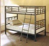 Coaster Home Furnishings Coaster Metal Twin Over Twin Bunk Bed In Dark Silver Finish