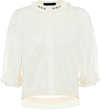 Simone Rocha Embellished wool and silk cardigan
