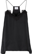 Cami NYC - Lace-trimmed Silk-charmeuse Camisole - Black