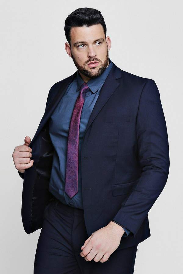 boohoo Big And Tall Skinny Fit Suit Jacket