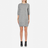 Love Moschino Women's Logo Imprint Jumper Dress Medium Grey