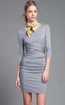 Tracy Reese Grey Ruched Dress