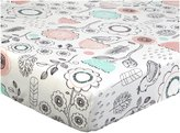 Lolli Living Fitted Sheet - Sparrow Print - Sparrow Print