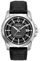 Bulova Men's Precisionist Black Leather Strap Watch