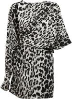 Saint Laurent Leopard Print Dress