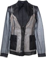 Maison Margiela lingerie detail blazer - women - Silk - 42