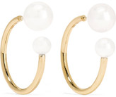 Sophie Bille Brahe Petite Boucle Kelly 14-karat Gold Pearl Earrings