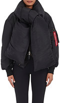 Balenciaga Women's Padded Bomber Jacket With Scarf-BLACK