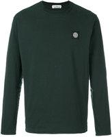 Stone Island logo patch sweatshirt - men - Cotton - L
