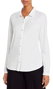 Eileen Fisher Petite System Organic Cotton Button-Down Top