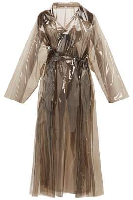 Norma Kamali Dolman 80s Clear Trench Coat - Womens - Clear