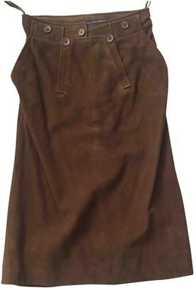Ralph Lauren Brown Suede Skirts