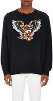 Facetasm Men's Eagle Patch Cotton Sweatshirt