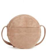 Baggu Pebbled Leather Crossbody Bag - Beige
