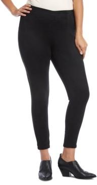 Karen Kane Plus Size Faux-Suede Skinny Pants