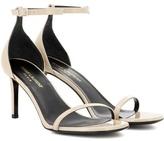 Saint Laurent Jane 80 Patent Leather Sandals