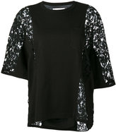 Sacai lace panel T-shirt - women - Cotton - 2