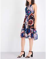 Whistles Sunflower-print crepe dress