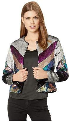 Blank NYC Colorful Sequin Cropped Jacket in Guest List (Multicolor) Women's Clothing