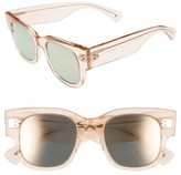 Salt Women's Tavita 50Mm Polarized Square Sunglasses - Antique Rose/ Rose Mirror