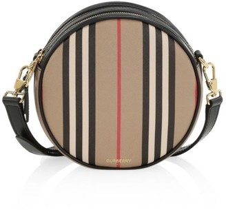 Burberry Roseberry Icon Stripe Circle Crossbody Bag
