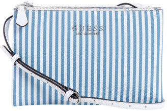 GUESS SP745270STW Wilder Zip Top Stripe Crossbody Bag