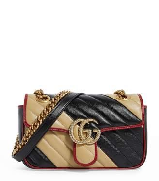 Gucci Mini Marmont Diagonal Matelasse Shoulder Bag