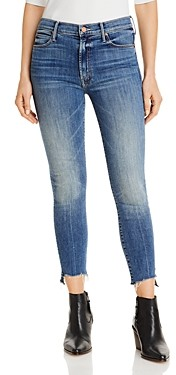 Mother Stunner Side Skinny Ankle Jeans in Walking on Coals