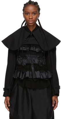Comme des Garcons Black Oversized Round Collar Jacket
