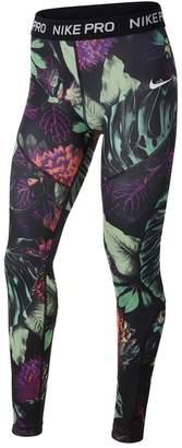 Nike Floral Print Sports Leggings 6-16 Years