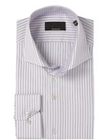 Baumler Tailored Lilac Stripe Double Cuff Shirt
