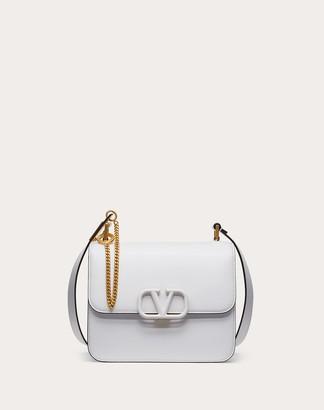 Valentino Vsling Grainy Calfskin Shoulder Bag Women Optic White 100% Pelle Di Vitello - Bos Taurus OneSize