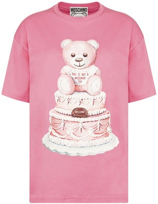 Moschino Teddy Cake Print T-Shirt