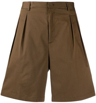 Low Brand pleat front shorts
