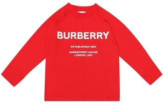BURBERRY KIDS Printed cotton top